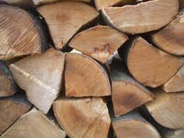 Sezonowane drewno kominkowe , grube polana,