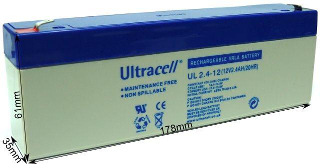 "Akumulator AGM ULTRACELL UL 12V 2.4AH ""żelowy"""