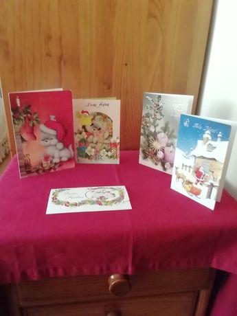 Conjunto de postais de natal