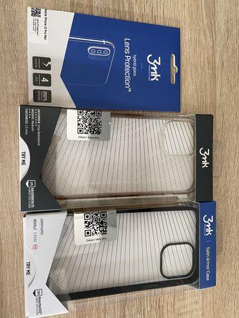 Iphone 12 ProMax Komplet etui firmy 3mk nowe plus szklo na aparat.
