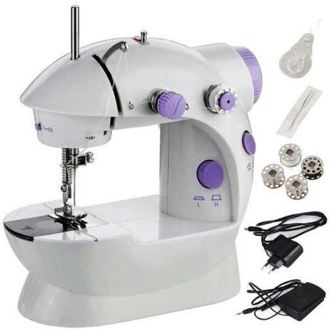 Mini maszyna do szycia napęd nożny lub ręczny światło LED + Akcesoria