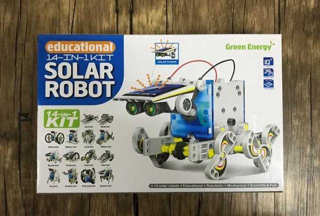 2- х уровневый, Робот - конструктор, на солнечной батарее 14в1
