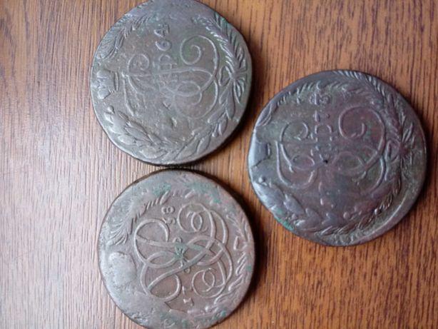 5 kopiejek Carska Rosja Caryca Elżbieta , Katarzyna