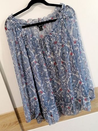 H&M mama letnia tunika dla kobiety w ciąży narzutka plażowa boho M L