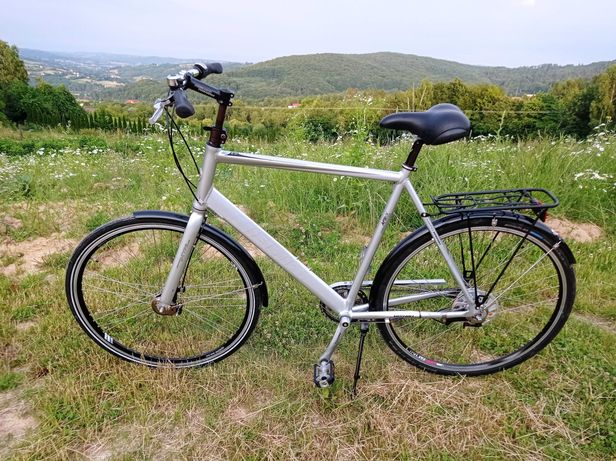 Rower miejski duża aluminiowa rama hamulce rolkowe 7 biegów nexus