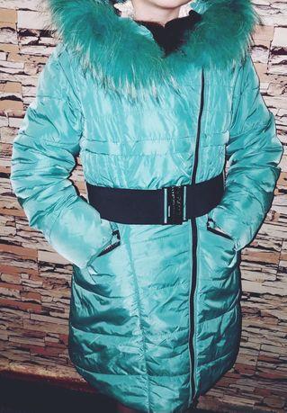 Пальто зимнее на рост140
