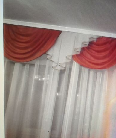 Лабрикен 5 м коричневый с белым, со шторами