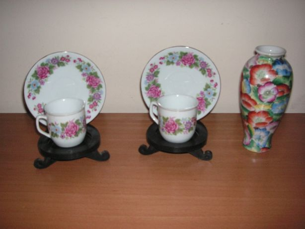 Chávena, Pires e Jarra em Porcelana Chinesa