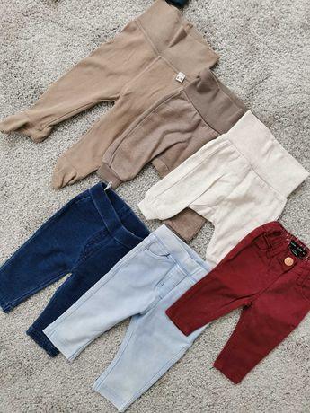 Spodnie dla chłopca, dziewczynki, dresy, jeansy, H&M, C&A