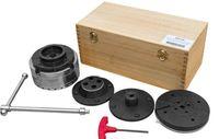 Bucha Ø125 mm + 3 pratos p/ torno de madeira Abertura até 178 mm