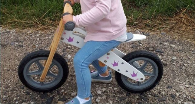 """Rower biegowy drewniany rowerek biegowy 12"""""""