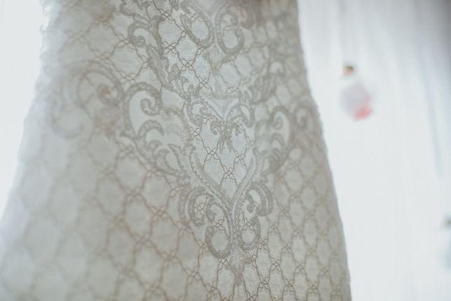 prześliczna suknia ślubna Nabla Kasandra hiszpańska koronka rozm. 36