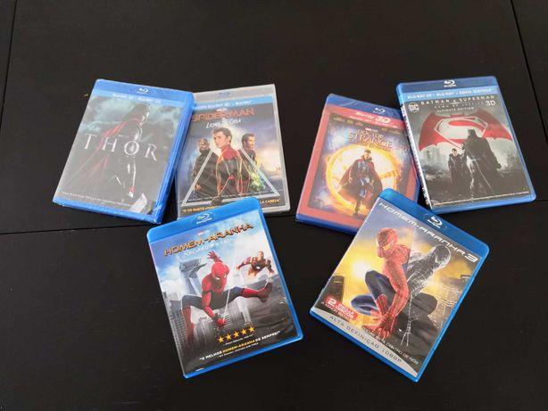 Blu-Ray, Blu-Ray 3D e DVD (Disney, DC Comics e Marvel) - Oportunidade!