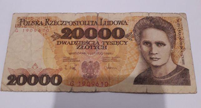 Banknot PRL 20 000