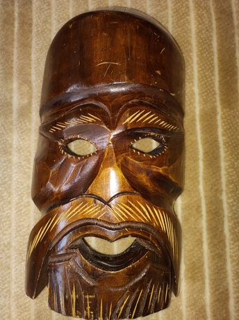Maska drewniana ...