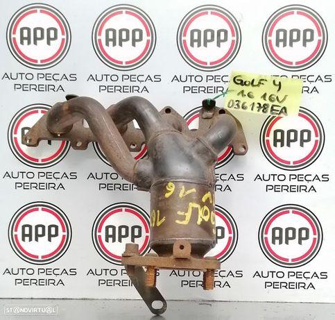 Coletor escape VW Golf 4 1.6 16V 2002 referência 036178EA.