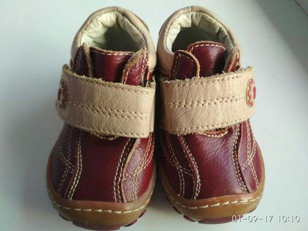 Кожаные ботиночки ботинки туфли кроссовки Ufo ( Румыния) как Ecco Geox