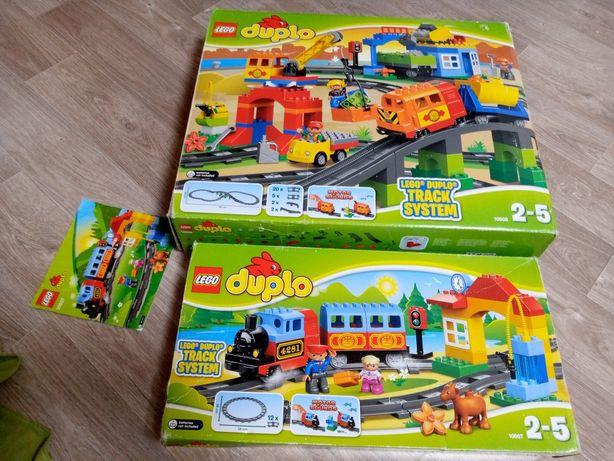 Lego duplo железная дорога 2 набора (большой 10508 + маленький 10507)