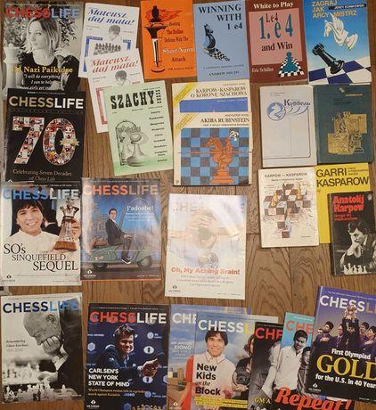 książki i czasopisma szachowe - polskie, angielskie, rosyjskie