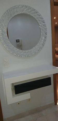 Espelho redondo lacado