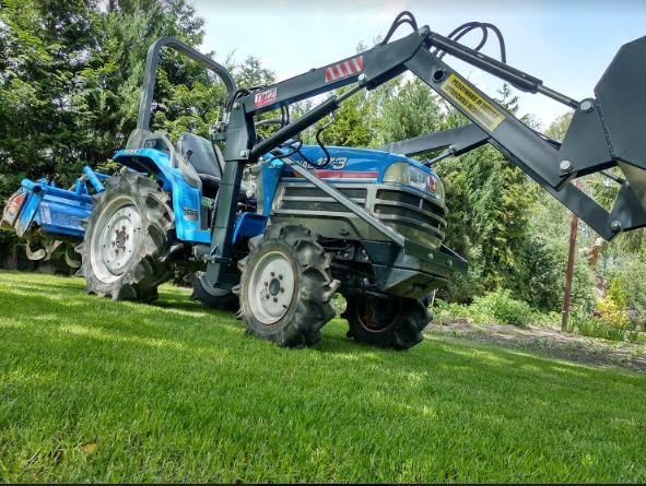 Usługi glebogryzarką kosiarką bijakową mini traktorem siatka na krety