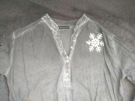 Szara koszulowa bluzka