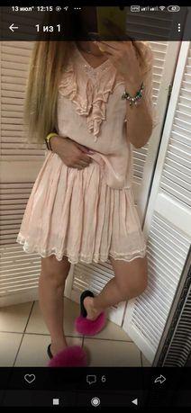 Костюм юбка и блуза Италия.