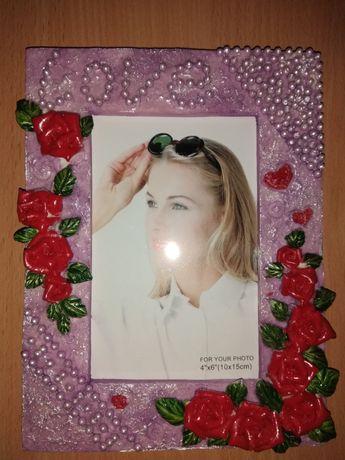 Шикарна рамка для фото фоторамка love квіти любов