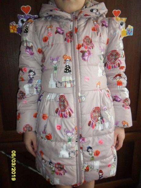 Куртка плащ утепленный на 5-7 лет