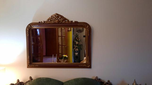 Espelho antigo  com molduras, altura 95cm  largura 1,34