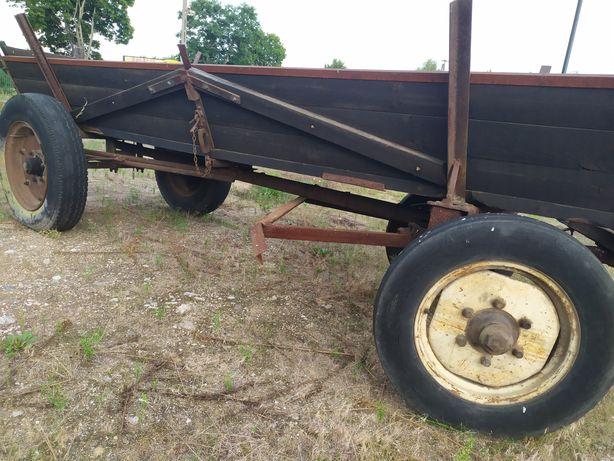 Wóz konny drewniany na dużych kołach
