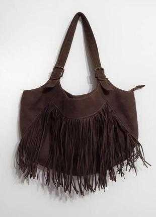 Красивая сумка с бахромой под замш от Орифлейм лимитированная серия