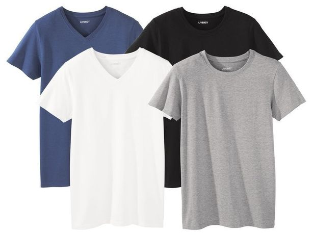 Мужская базовая футболка хлопок Livergy Германия  от S до 4XL Батал