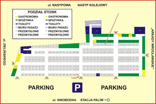 Pasaż Zielińskiego, Wrocław SPRZEDAM stoisko handlowe nr 16.4
