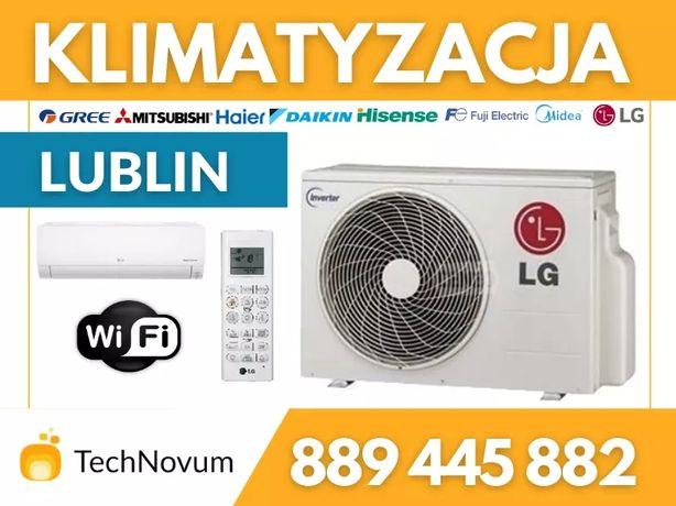 Klimatyzacja 2,5kW 3,5kW WiFi klimatyzator LG Gree Midea Mitsubishi