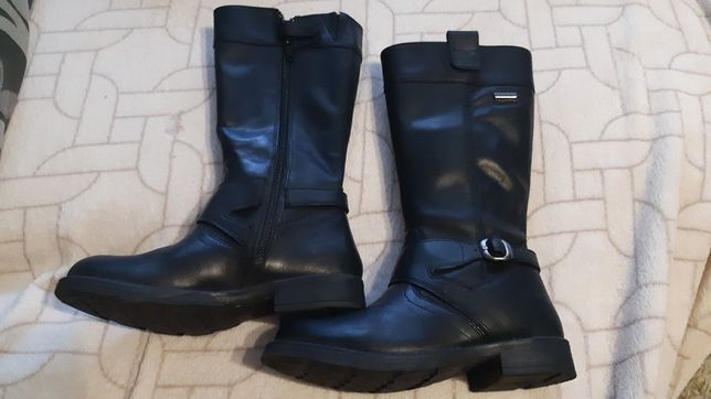 Кожаные сапоги geox. сапожки ботинки ботфорты