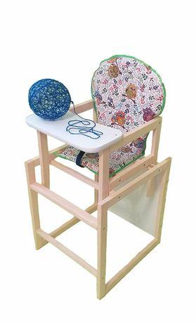 Деревянный стульчик - трансформер для кормления в ассортименте