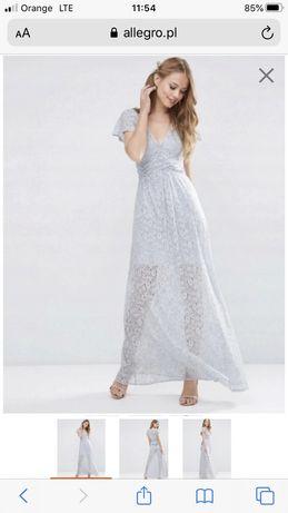 Sukienka długa z koronki 42 Asos