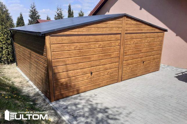 Garaż blaszany drewnopodobny 6x5,8 garaże blaszane na wymiar ULTOM