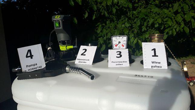 Zbiornik dwupłaszczowy 750 l na ON,olej opałowy, fabr.nowy atest CE