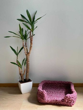 Cama para animais feita em croché