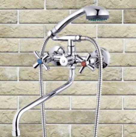 Смеситель для ванны кран душевая лейка шланг