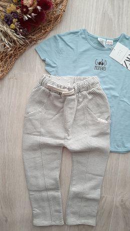 Плюшевые штаны в полоску от Zara, 3-4г.