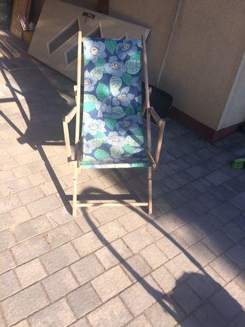 Leżak drewniany PRL