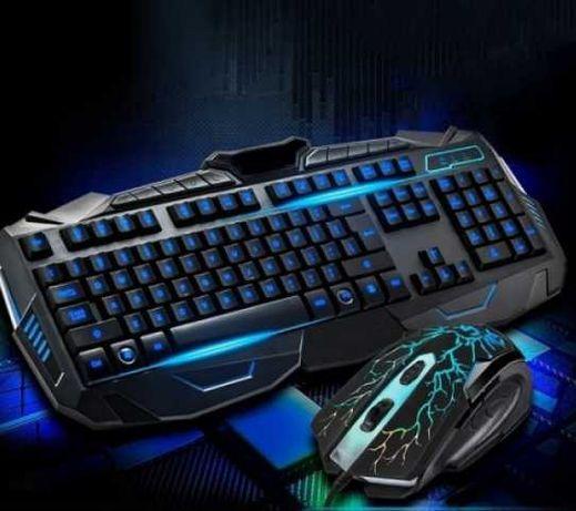 Продам игровую клавиатуру и мышь с подсветкой V100