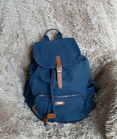 Niebieski granatowy plecak vintage nowy Diverse