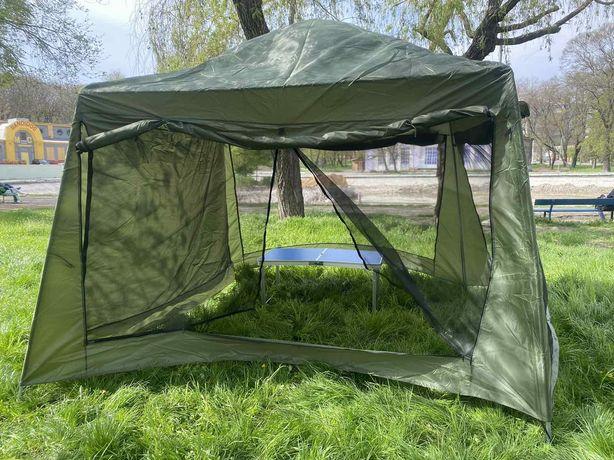 Палатка тент, шатер большая беседка 3.20 * 3.20 * 2.35  Шатер новая