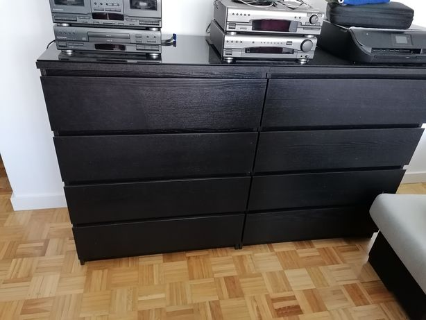 2 Cómodas Malm Ikea com vidro