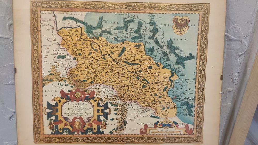 Mapa sląska dolenego śląska i opolszczyzny Kluczbork - image 1
