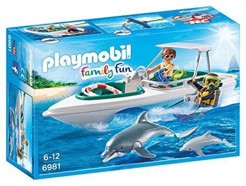 Playmobil 6981 Катер с дайверами и дельфны